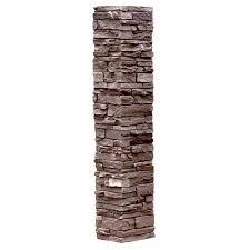 Nextstone Faux Polyurethane Stone Post Cover Sleeve Brunswick Brown Walmart Com Walmart Com