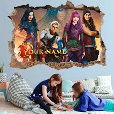 Descendants 2 3d Wall Decal Personalized Wall Sticker Etsy