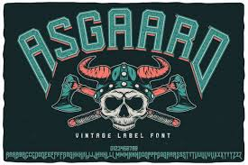 Asgaard label typeface | Premium Vector