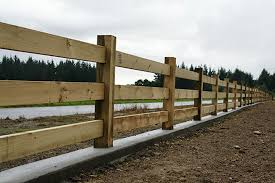 Specialty Products Through Post And Rail Fence