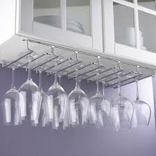 chrome hanging wine glass rack