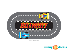 Sunny Decals Racing Track With Custom Name Personalized Wall Decal Reviews Wayfair