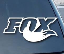 Amazon Com Fox Tail Racing Vinyl 5 Wide Color White Decal Laptop Tablet Skateboard Car Windows Stickers Computers Accessories