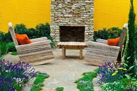 15 outdoor stone fireplace ideas