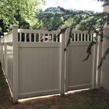 Weatherables Mason 3 7 Ft W X 6 Ft H Khaki Vinyl Privacy Fence Gate Kit Skpr Ct 6x44 5 The Home Depot