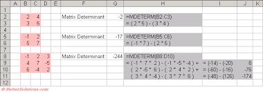 excel matrix functions