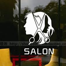 Sex Man Barber Girls Lady Hair Salon Tools Wall Sticker Hair Cutting Wall Decal Hairdressing Shop Window Decoration Shop Window Decoration Window Decorationwall Decals Aliexpress