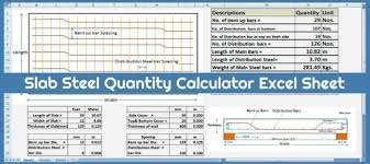 calculate steel quany for slab