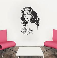 Wonder Woman Wall Decals Living Room Sofa Backgroud Decorate Removable Art Stickers Wall Window Decor 40 Colors Available Za794 Women Wall Decals Window Decorationwall Decals Aliexpress