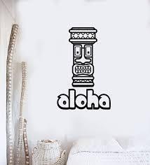 Vinyl Wall Decal Aloha Tiki Mask Bar Hawaii Home Decor Interior Sticke Wallstickers4you