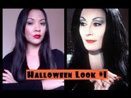 morticia makeup vlog