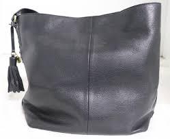 cole haan black large tote bag