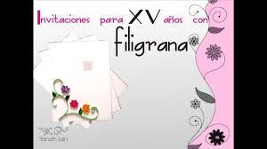 Invitacion Para Fiestas Con Filigrana Youtube
