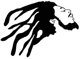 A Bob Marley Decal Vinyl Cut Sticker Rastafari Reggae Roots Crown Decals