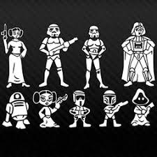 Star Wars Family Car Decal Automotive Vinyl Sticker