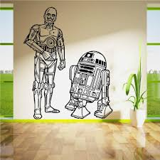 Star Wars R2d2 And C3po Droids Duo Set Vinyl Wall Art Sticker Living R Ellaseal