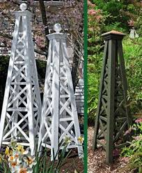 wooden obelisk kitchen garden