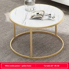 coffee table gold metal frame