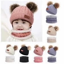 قبعة شتوية أنيقة للأطفال الصغار والرضع والبنات قبعة الشتاء الدافئة