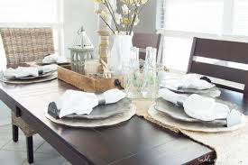 dining room table settings photo of
