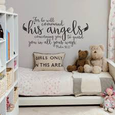 Psalm 91 11 He Will Command His Angels Wall Decal A Great Impression