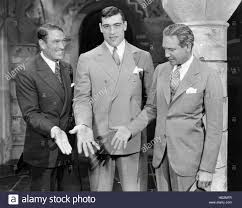 From left, Victor McLaglen, boxer Primo Carnera, and director Victor Stock  Photo - Alamy