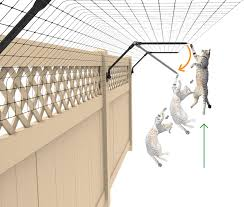 Purrfect Fence Existing Fence Conversion System Cat Proof Fence Topper 50 Feet Kit For Fences 5 Feet Or Taller Amazon Co Uk Garden Outdoors
