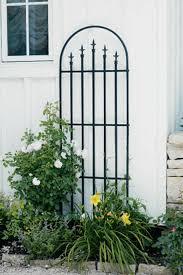 Panacea French Arch Trellis With Finials Black Bosworths Online Shop