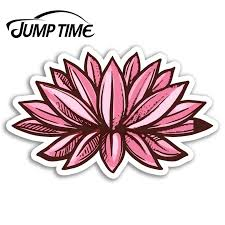 Jump Time For Pink Lotus Flower Vinyl Stickers India Sticker Laptop Luggage Decal Rear Windshield Waterproof Car Accessories Car Stickers Aliexpress