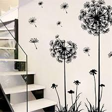 Amazon Com Tuscom Black Creative Pvc Flower Plant Tree Large Removable Home Wall Decal Sticker Home Kitchen