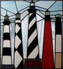 north ina lighthouse stained glass