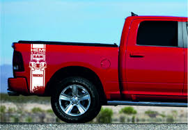 Product Dodge Ram Hemi 5 7l 6 4l 2x Decals For 1500 2500 3500 Vinyl Body Stripe Sticker Dodge Ram Hemi Dodge