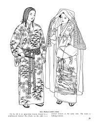 Japanese Fashions By Ming Ju Sun Dover Kleurplaten Kleurplaten