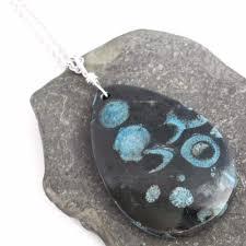 blue c fossil necklace cerulean