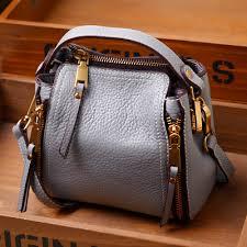 las handbag women genuine leather