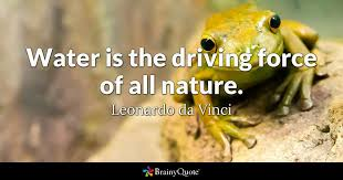 leonardo da vinci water is the driving force of all