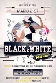 Roberto Baron Diseno Grafico Flyer Invitacion Black White