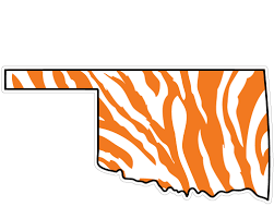 3 Oklahoma State Zebra State Logo Vinyl Decal Wesellspirit Com