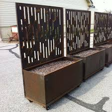 trellis with planter box trellis with