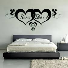 Ga07 Custom Made Personalized Name Hearts Forever Vinyl Wall Art Stickers Angel Decal Mural For Kids Room Bedroom Home Decor Mural For Kids Vinyl Wallvinyl Wall Art Aliexpress