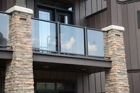 glass balcony for modern outdoor