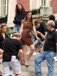 Amanda Setton and Leighton Meester on the set of Gossip Girl - On ...