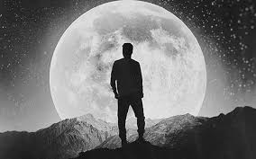 hd wallpaper the moon black and white
