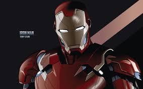tony stark iron man minimal 4k