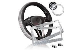 Up To 46 Off On Zone Tech Car Bling Set Steer Groupon Goods