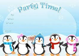 Invitacion Pinguinos Invitaciones De Cumpleanos Infantiles