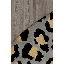 dellrey black gray gold area rug