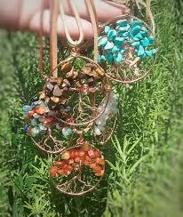 tree of life pendant turquoise