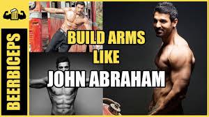 john abraham arm workout deled arm