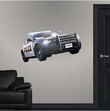 Police Cop Car Wall Decal Vinyl Sticker 3d Wall Art Boys Kids Etsy